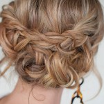 Casual Messy Braided Updo - Quick & Easy Messy Braided Updo