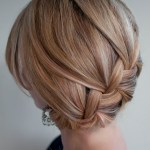 Classic French Braid Updo - Loose French Braid for Prom