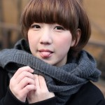 Cute Asian Mushroom Bob Haircut - Helmet Haircut 2013