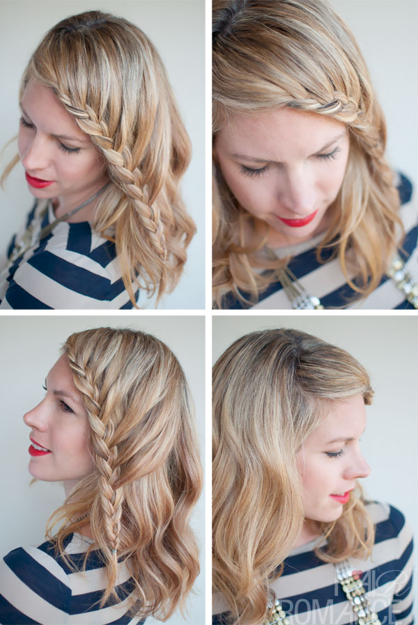 French Fringe Braid - French Braid Your Fringe or Bangs