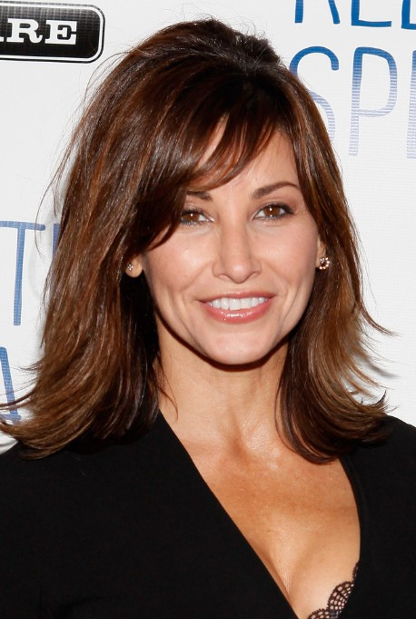 Gina Gershon Curled Out Long Bob With Bangs