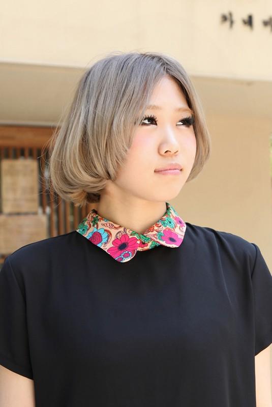Popular Asian Hair Color Ideas - Super Cute Bob Cut for Girls