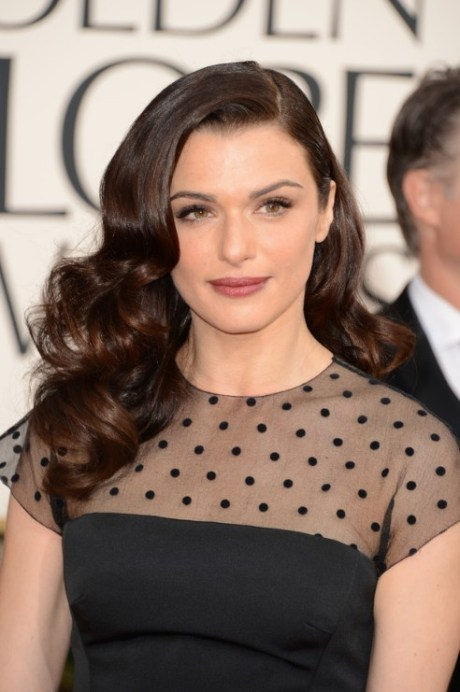 2013 Golden Globe Awards Hairstyles: Rachel Weisz Long Wavy Hairstyle