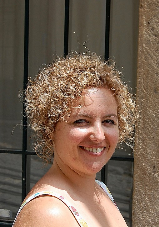 Short Curly Bob Hairstyles - Feminine Sun Kissed Short Haircut for Women