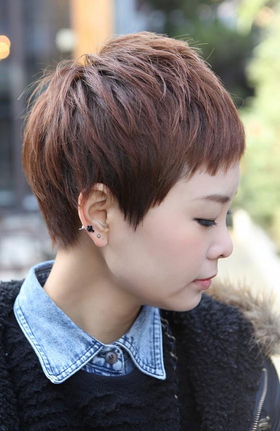 Boyish Short Haircut With Blunt Bangs