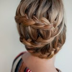 Stylish Braided Updo Hairstyle - Cool Casual Hairstyle for Women
