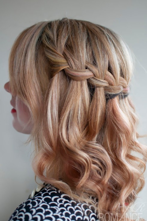 The Waterfall Braid - Popular Hairstyles for 2013