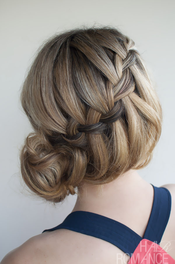 Soft Loose Waterfall Braided Bun - Romantic Updo for Your ...
