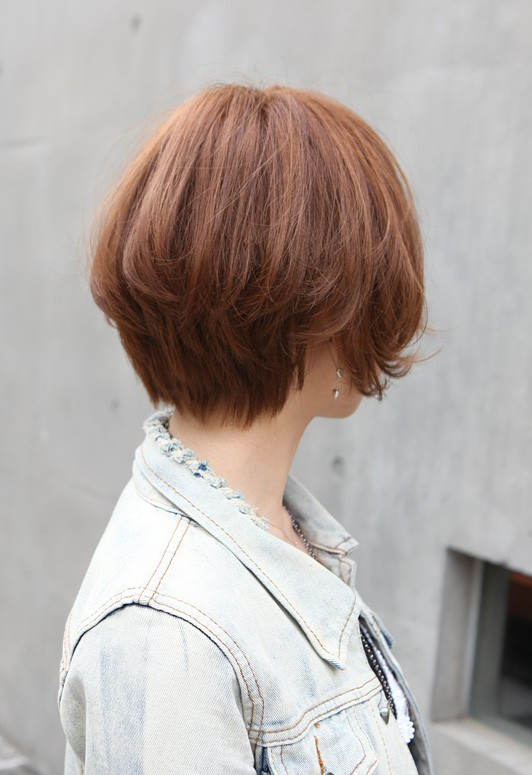 Back View of Trendy Short Cut 2013
