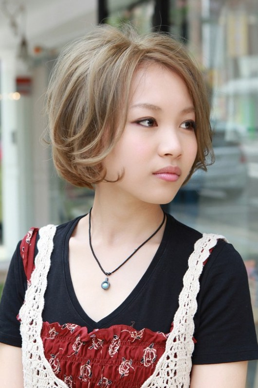 Japanese Curly Bob Hairstyles 2013