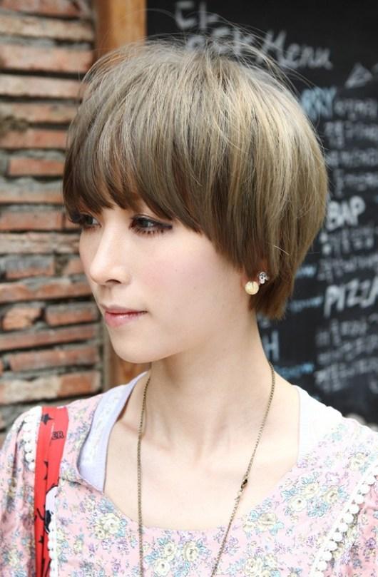Layered Trendy Short Haircut with Bangs