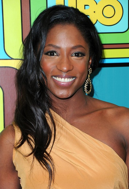 Rutina Wesley Long Black Wavy Hairstyle for Prom 2014