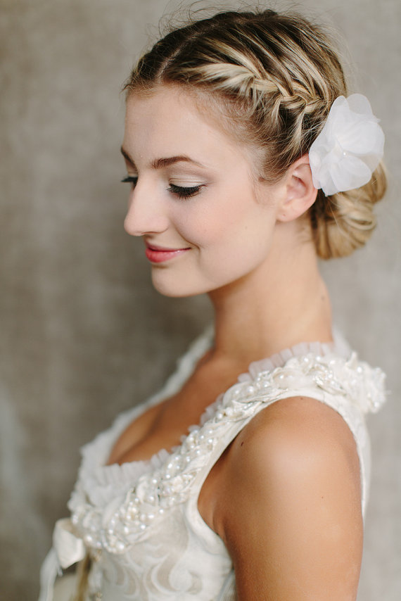 Side View of Braided Bun for Wedding - Wedding Hairstyles 2014