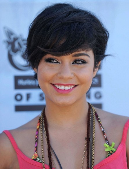Vanessa Hudgens Short Hairstyle with Bangs for Summer
