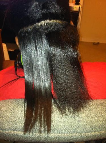 HSI The Styler Ceramic Tourmaline Ionic Flat Iron before and after