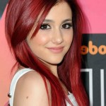Ariana Grande Hairstyles - Long Sleek Red Hairstyles