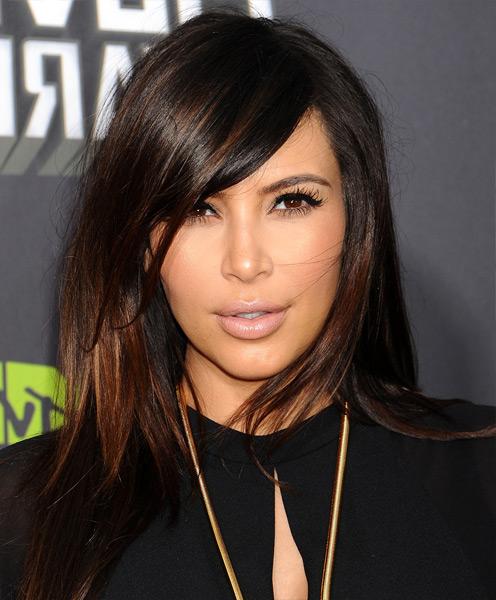 Kim Kardashian hairstyle -medium length hairstyle