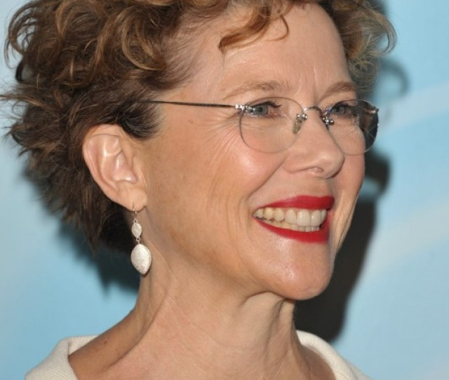 Short Curly Hairstyle For Women Over  Annette Bening Hairstyle