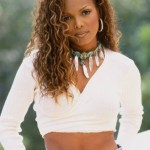 Long curly hairstyle for black women - Janet Jackson hairstyle