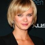 Short hairstyles 2014 - blonde bob haircut with bangs - Sara Paxton hairstyles