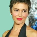 Alyssa Milano Short Pixie Haircut for 2014