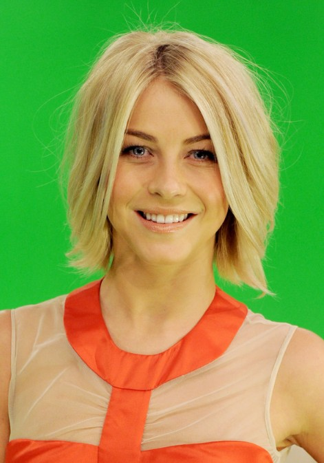 Windblown Bob Hairstyle for Short Straight Hair - Julianne Hough Short Blonde Hairstyles