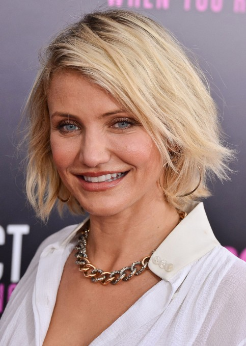 Best Short Bob Hairstyles for Women Over 40 - Cameron Diaz Short Haircut