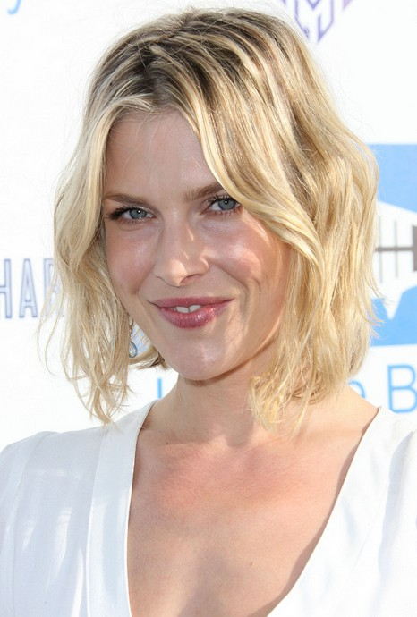 Short Tousled Curly Bob Hairstyle 2014 - Ali Larter Short Blonde Hairstyles