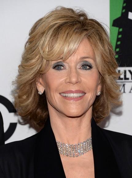 Jane Fonda Short Hairstyle - 2014 Short Haircut for Women Over 60
