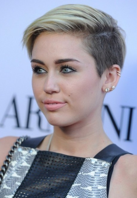 Miley Cyrus Short Haircut for 2015 - Short Edgy Hairstyle for Young Ladies