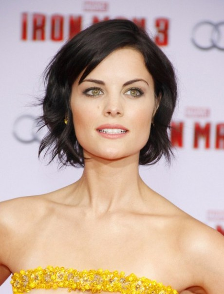 Jaimie Alexander Short Hair Style for 2015 - Short Black Hairstyle with Waves