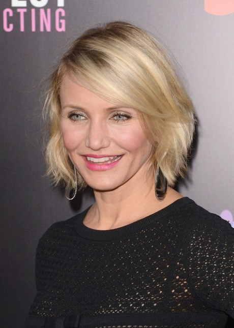 Hairstyle for Women Over 40 - Cameron Diaz Short Bob Hairstyle for 2015