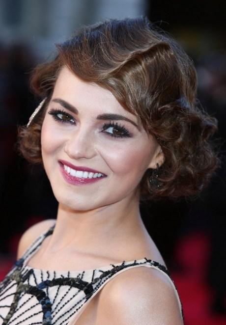Elegant Retro Updo for Short Hair - Kara Tointon Finger Wave Hairstyle for 2015