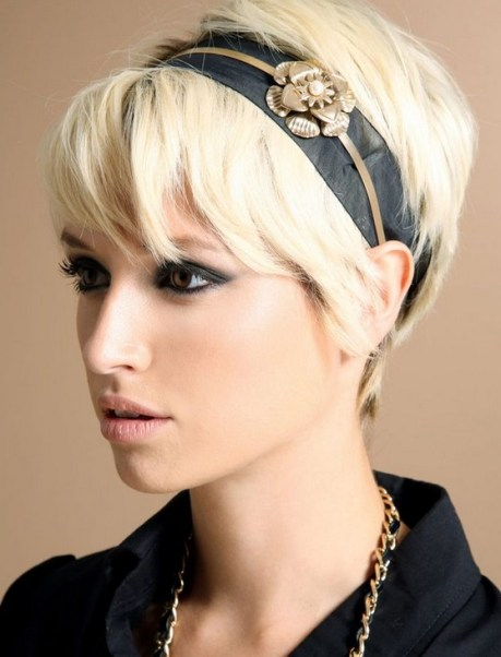 Short Blonde Pixie Cut for 2015