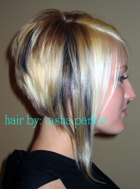 A-line Bob - Side View of Layered Bob Hairstyle