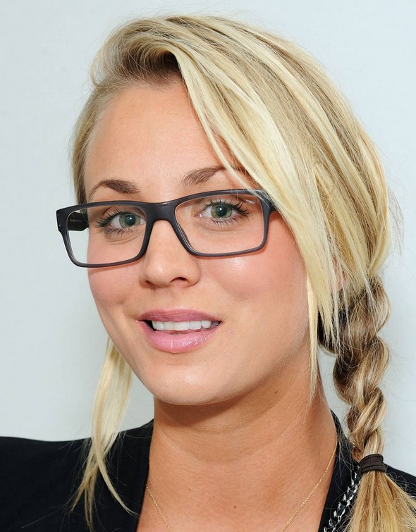 Kaley Cuoco hairstyle - braided hairstyle for female