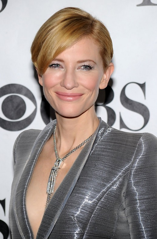 Cate Blanchett Short Hairstyle - Side Parted Short Cut