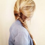 Romantic Messy Herring-bone Side Braid for girls