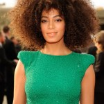 Solange Knowles Natural curly hairstyle