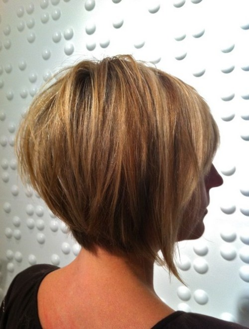 Back View of Layered Bob Hairstyle