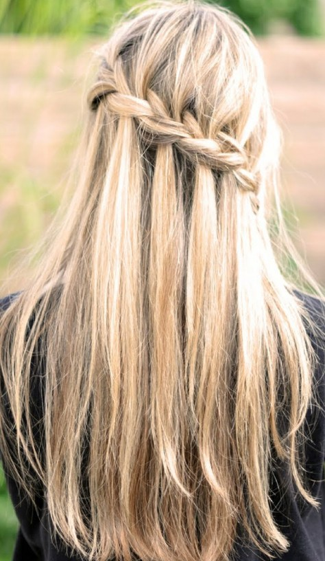 Waterfall Braid for Long Straight Hair Tumblr