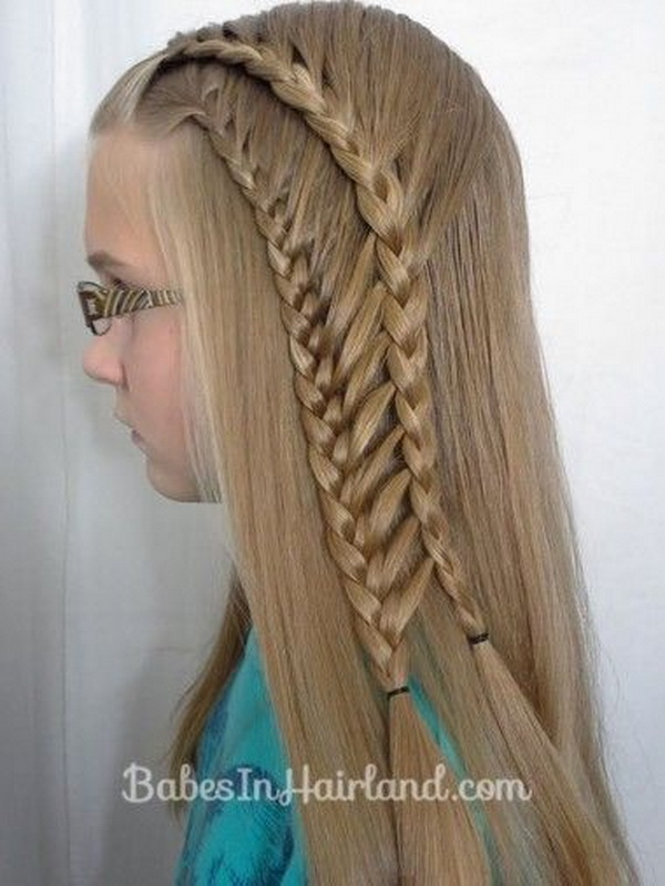 Side View of Cute Braided Hairstyles for Little Girls
