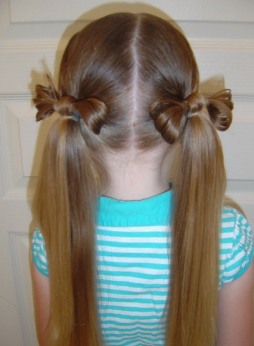Back View of Cute HAIR BOWS for Girls