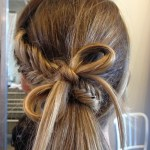 Back to Shool Hairstyles 2014: Quirky Fishtail & Hair Bow