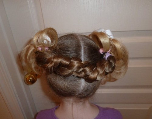 Cute tiny pigtails for Girls
