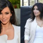 Kim Kardashian new hairstyles 2014