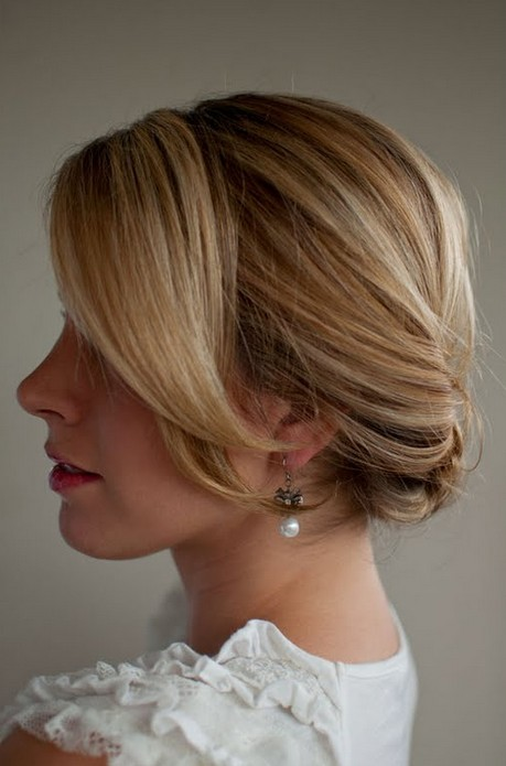 Side View of Smooth Updo
