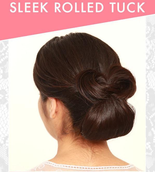 DIY Wedding Hairstyles: The Sleek Rolled Tuck Updo for Wedding