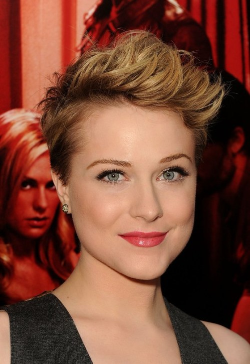 Evan Rachel Wood Edgy Spiked Short Pixie Cut for Women