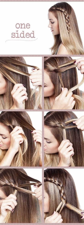 Hair Tutorials One Side Braid